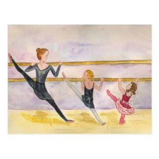 Cartão Postal Classe do balé