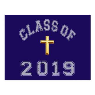 Cartão Postal Classe do cristão 2019 transversal - cinza 2