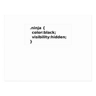 Cartão Postal Classe do CSS do codificador de Ninja