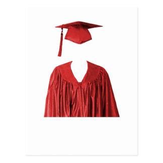 Cartão Postal Classe graduada do boné e do vestido Template1