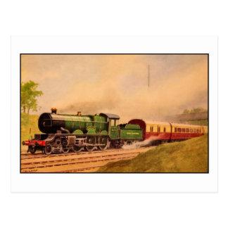Cartão Postal Classe locomotiva de Caerphilly do vintage do