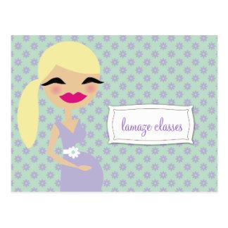 Cartão Postal classes de Lamaze das mamães 311-Sweet