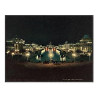 Cartão Postal Clássico grande Photochrom da corte da iluminação