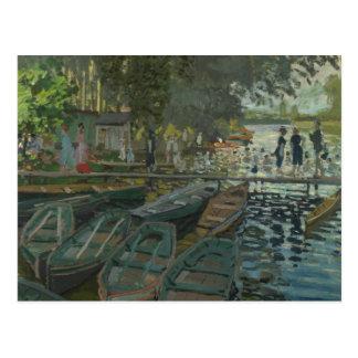 Cartão Postal Claude Monet - Bathers no La Grenouillere
