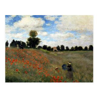 Cartão Postal Claude Monet - Les Coquelicots