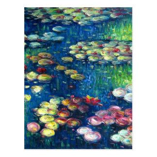 Cartão Postal Claude Monet: Lírios de água 3
