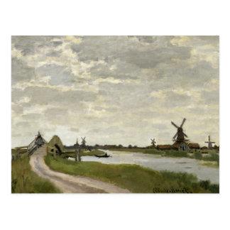 Cartão Postal Claude Monet - os moinhos de vento aproximam