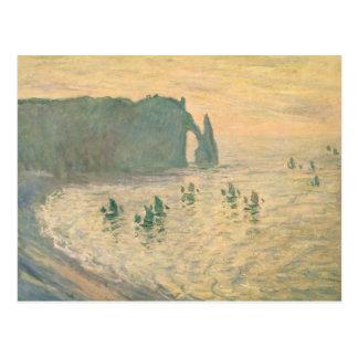 Cartão Postal Claude Monet | os penhascos em Etretat, 1886