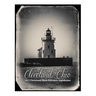 Cartão Postal Cleveland, Ohio - farol da entrada 1911 principal