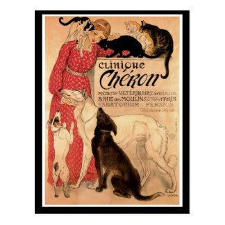 Cartão Postal Clínica Chéron do vintage de Steinlen