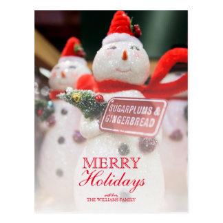 Cartão Postal Close up do ornamento Handmade décor. do boneco de
