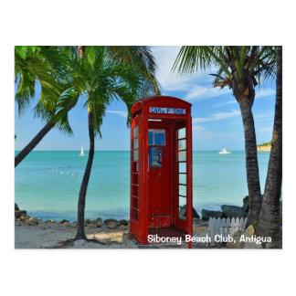 Cartão Postal Clube da praia de Siboney, Antígua