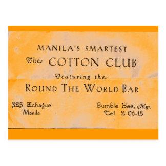 Cartão Postal clube do algodão, manila