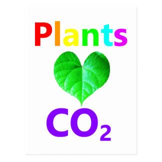 Cartão Postal CO2 do amor das plantas