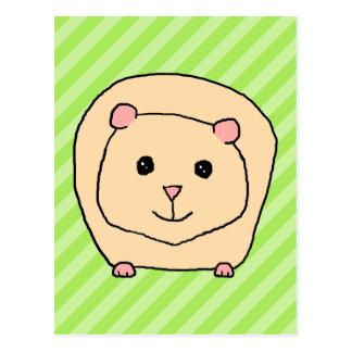 Cartão Postal Cobaia, animal dos desenhos animados