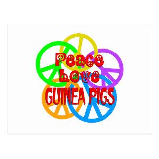 Cartão Postal Cobaias do amor da paz