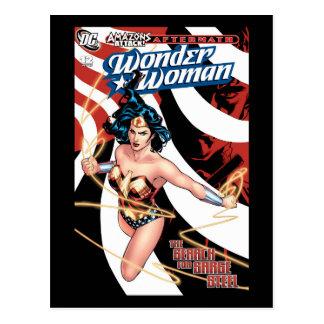 Cartão Postal Cobrir cómico #12 da mulher maravilha