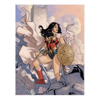 Cartão Postal Cobrir cómico #13 da mulher maravilha