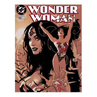 Cartão Postal Cobrir cómico #150 da mulher maravilha: Triunfante