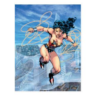 Cartão Postal Cobrir cómico #16 da trindade da mulher maravilha