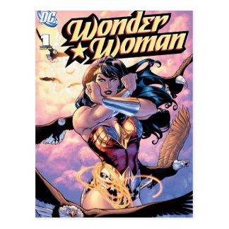 Cartão Postal Cobrir cómico #1 da mulher maravilha