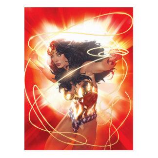 Cartão Postal Cobrir da enciclopédia da mulher maravilha