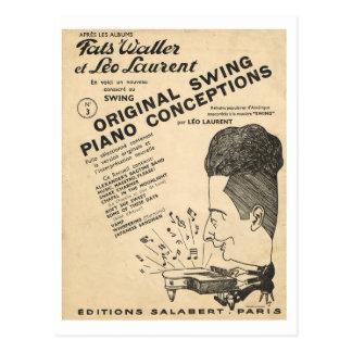 Cartão Postal Cobrir de Fats Waller, concepções originais do