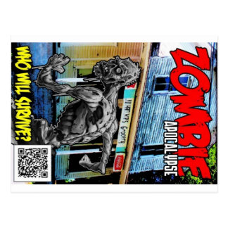 Cartão Postal Cobrir do apocalipse do zombi