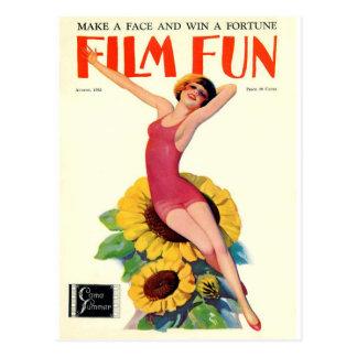 Cartão Postal Cobrir do divertimento do filme do vintage -