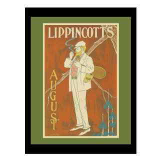 Cartão Postal Cobrir do tênis do compartimento de Lippincott