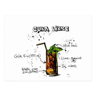 Cartão Postal Cocktail de Cuba Libre