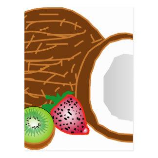 Cartão Postal Cocos tropicais do quivi