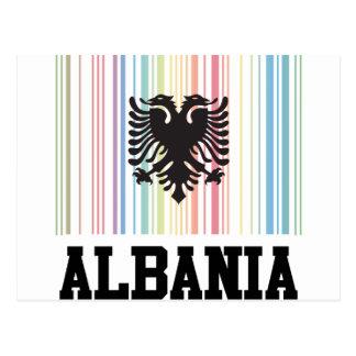 Cartão Postal Código de barras Albânia