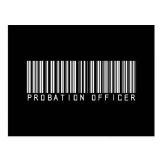 Cartão Postal Código de barras do agente de saída precária