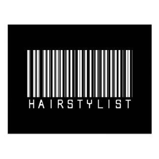 Cartão Postal Código de barras do Hairstylist
