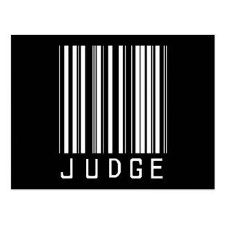 Cartão Postal Código de barras do juiz