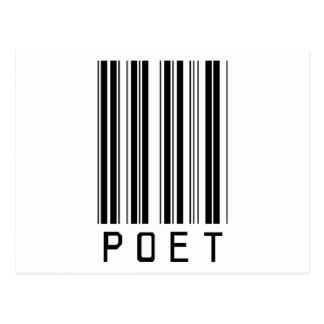 Cartão Postal Código de barras do poeta