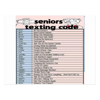 Cartão Postal Código superior de Texting
