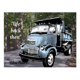 Cartão Postal COE antigos Dumptruck Postcard2- personalizam
