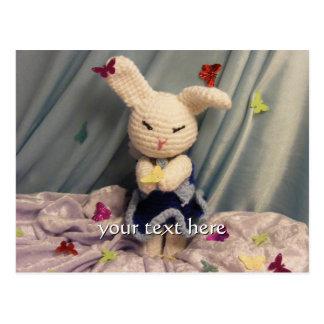 Cartão Postal Coelho de coelho bonito de Amigurumi