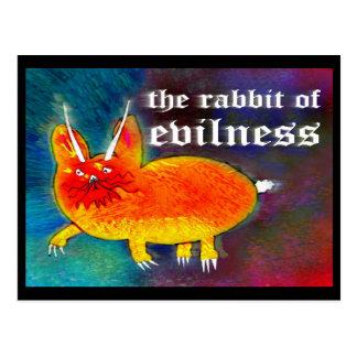 Cartão Postal Coelho do Evilness [cartão]