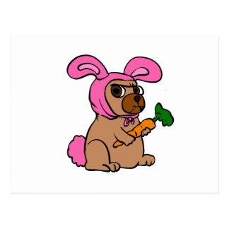 Cartão Postal Coelho do traje do cão