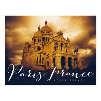 Cartão Postal coeur do sacré em Paris france