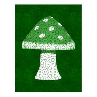 Cartão Postal Cogumelo verde
