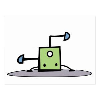 Cartão Postal Coisa verde de Breakdancing