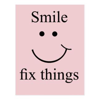 Cartão Postal Coisas do reparo do sorriso