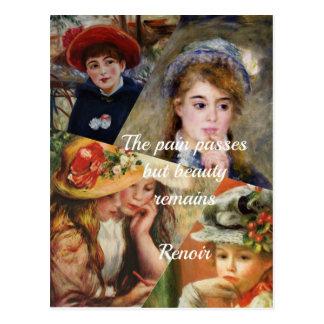 Cartão Postal Colage da pintura de Renoir