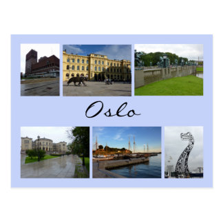 Cartão Postal Colagem 2 de Oslo