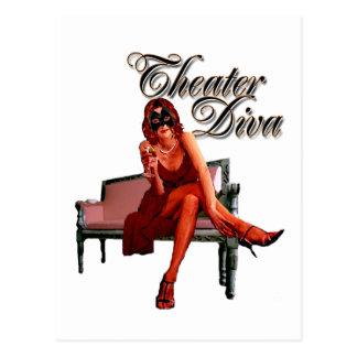 Cartão Postal Colagem da diva do teatro