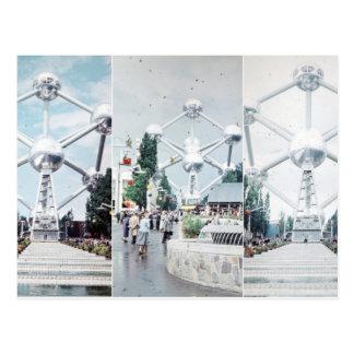 Cartão Postal Colagem da foto de Bruxelas Atomium